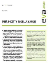 EVA Arvio: Mitä Piketty todella sanoi?