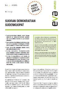 EVA Arvio: Suoran demokratian sudenkuopat