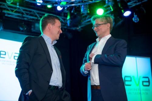 Kuvassa Jussi Kekkonen (vas.) ja Mikael Jungner.