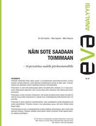 EVA Analyysi: Näin sote saadaan toimimaan – 16 perustelua uudelle piirikuntamallille