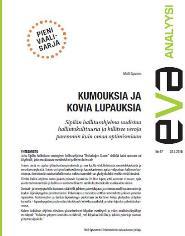 EVA Analyysi hallitusohjelmasta: Kumouksia ja kovia lupauksia
