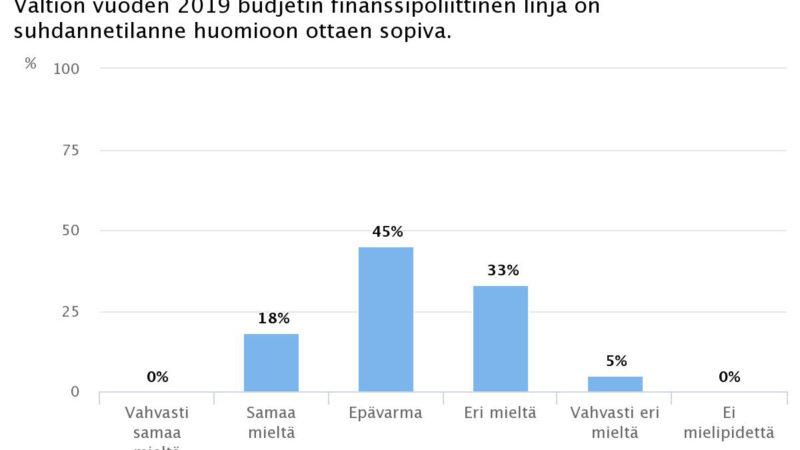 Ekonomistikone.fi: Taloustieteilijät erimielisiä valtion budjetin sopivuudesta suhdannetilanteeseen