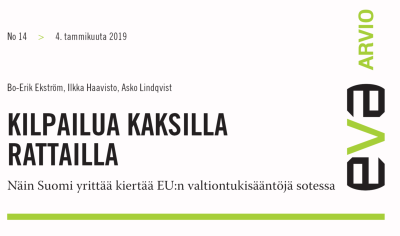SUOMI YRITTÄÄ KIERTÄÄ EU:n VALTIONTUKISÄÄNTÖJÄ SOTESSA