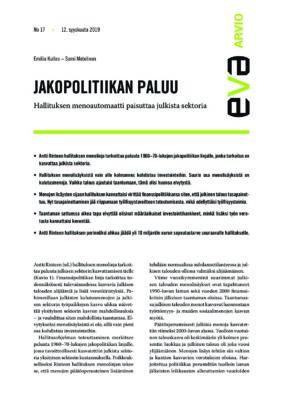 Download: Jakopolitiikan paluu -EVA Arvio