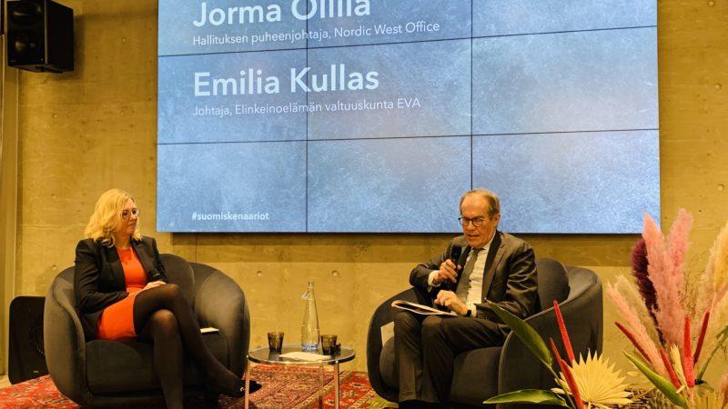 Jorma Ollila, Björn Wahlroos, Anna Kontula ja Risto Siilasmaa maalasivat tulevaisuutta – Suomi-skenaariot käyntiin