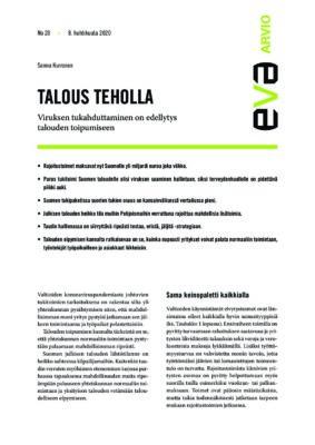 Download: Talous teholla -EVA Arvio