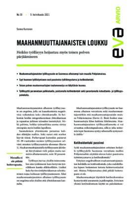 Download: Maahanmuuttajanaisten loukku -EVA Arvio